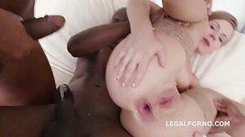 Big Butt slut Sasha Zima gets her tight holes DP'_ed &amp_ DAP'_ed to the extreme