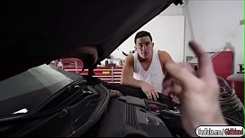 Gf Kendall Woods fucked by car mechanic