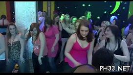 A lot of team fuck on dance floor