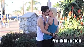 Kissing prank compilation that gone sexual easy to get girls on L.A. HD