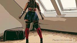 wonder woman cosplay - used like a slut, projectfundiary