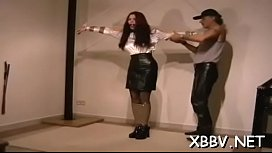 Woman plays by man'_s rules in s&amp_m xxx non-professional show