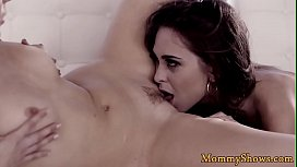 Classy milf queened by tattooed stepdaughter