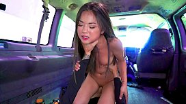 Cute asian teen gets fucked in the bus