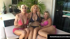 Charlee Chase Puma Swede &amp_ Vicky Vette Eat Pussy By The Pool