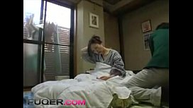 Husband takes advantage of a sick mother-in-law while wife is outside
