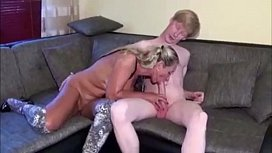 Dad is watching mom and son having sex