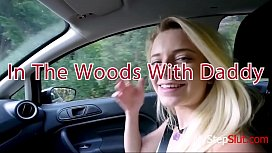 Taking stepdaughters virginity out in the woods, one with nature