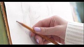 Model Fucks Art Students Soul Up Their Tight Asses on hott9.com