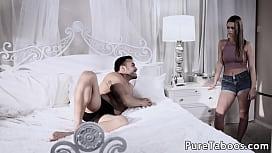 Stepdaughter bangs her horny stepdad