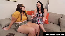 Thick Chicks Angelina Castro &amp_ Fit Sydney Strap On Dick &amp_ Cream Cunts!