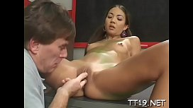 Playful gal Kiony gets fully satisfied