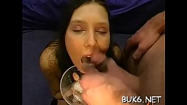 Receiving loads of jizz from different studs delight hotties