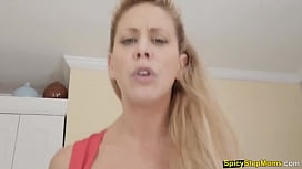 Blonde stepmother with bubbly ass fucked hard POV style