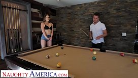 Naughty America Kenzie Madison plays strip pool with friend'_s brother