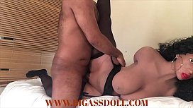 Hot curly girl got creampied with her legs open