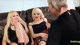 Cindy Berh And Farrah Fox Give A Lucky Old Guy A Threesome