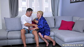 Blonde granny Malya is fucking with her neighbor