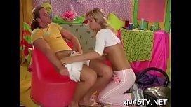 Horny lady Zhenya gets wild licking