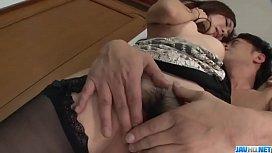 Kaori Maeda takes large dick in both her wet holes  - More at javhd.net