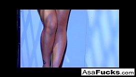 Asa takes the big black dick again