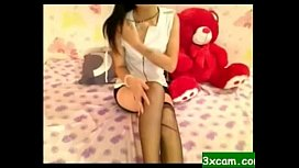 asian 19yo teen hairy pussy webcam masturbation
