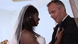 Best men fucking his friends ebony bride in the ass