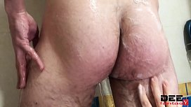 Dirty Tattoo Pervert Jerks Cock In Bathroom While Washing It by Mistress