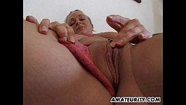 Busty amateur girlfriend sucks and fucks