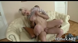 Small sweetie demonstrates her oral pleasure and banging skills