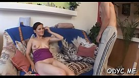 Stunning old and young fucking with hot playgirl getting it hard