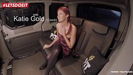 LETSDOEIT - Czech RedHead is Abused in the BackSeat (Kattie Gold)