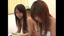 2 Japanese Lesbians Eating Cake and Kissing