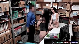 Officer destroys gorgeous Gina and Mi Ha pussies