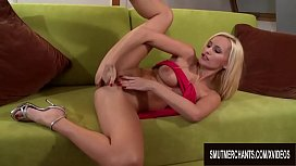 Two Men Help Horny Claudia Adams Quench Her Lust for Cock