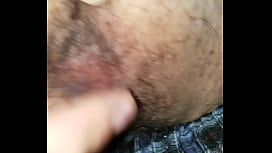 Making my girl cum on my big hairy cock