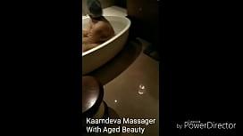 Kaamdeva Massager with client in Delhi hotel