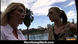 Huge Black Meat Going into Horny Mom 1