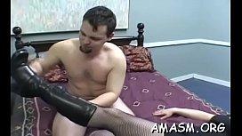 Goluptious gal bounces on thick meat bazooka