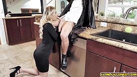 Milf Kenzie Taylor reward her stepson with her pussy!