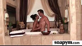 Soapy big tits lead to erotic massage 15