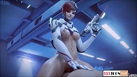 Compilation SFM Overwatch Dva and widow. Try not to fap ;)