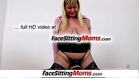 Facesitting with fatty big tits lady Irma