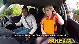 44759017: Fake Driving School Long black cock pleases busty blonde examiner
