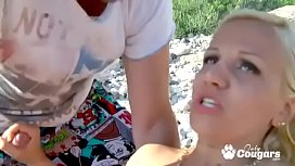 MILF Debora X Enjoys Some Dick At The Beach