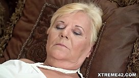 Old woman and her young lesbian lover - Lili and Anya Krey - Old and Young Lesbian Love