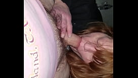 Milf sucks cock and balls