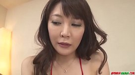 Busty Hinata Komine in scenes of rough threesome sex - More at Japanesemamas com