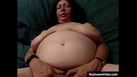Enormous fat granny grabs the cameraman'_s cock, who is immediately horny at the sight of her saggy tits