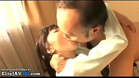Japanese pretty college girl gets fucked by older man